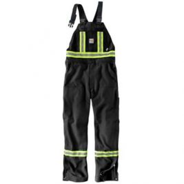 Carhartt Flame-Resistant Striped Duck Bib Overall – Unlined