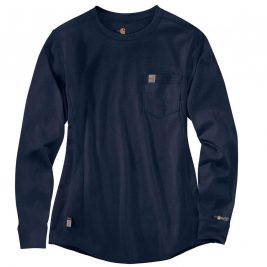 Carhartt Women's Flame-Resistant Force® Cotton Long-Sleeve Crewneck T-Shirt
