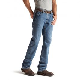 Ariat Flame-Resistant M4 Low Rise Bootcut Jeans – Light Wash