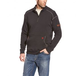 Ariat Flame-Resistant Polartec Fleece 1/4 Zip Top – Black