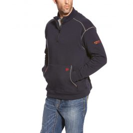 Ariat Flame-Resistant Polartec Fleece 1/4 Zip Top – Navy