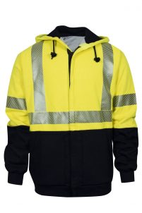 National Safety Apparel VIZABLE FR Hybrid Deluxe Zip-Front Sweatshirt