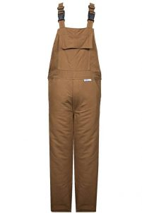 National Safety Apparel FR Bib Overall with FR Quilted Liner – Brown