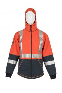 DragonWear Flame-Resistant Elements Lightning Jacket – Orange