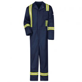 Bulwark Classic Flame-Resistant Coverall with Reflective Trim