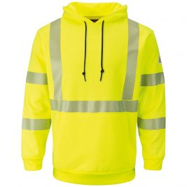 Bulwark Hi-Vis Pullover Hooded Fleece Flame-Resistant Sweatshirt