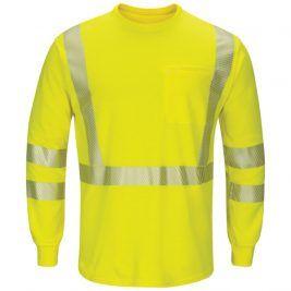 Bulwark Hi-Vis Lightweight Long Sleeve FR T-Shirt with Pocket