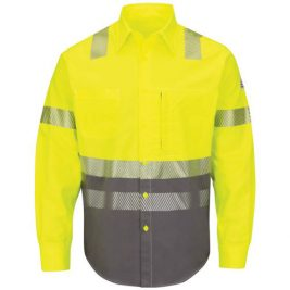 Bulwark Flame-Resistant Hi-Visibility Color-Block Uniform Shirt