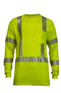 National Safety Apparel Vizable FR Hi-Vis Dual Hazard Long Sleeve T-Shirt