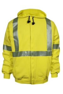 National Safety Apparel VIZABLE FR Hi-Vis Zip-Front Sweatshirt