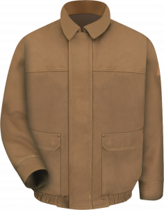 Bulwark Heavyweight Brown Duck Lined Bomber Jacket