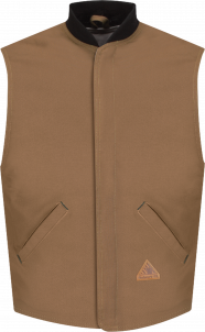 Bulwark Heavyweight FR Brown Duck Vest Jacket Liner