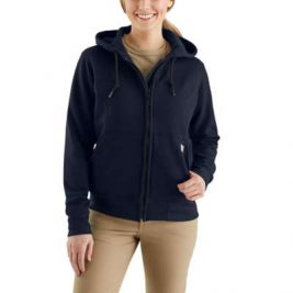 Carhartt Women's Flame-Resistant Rain Defender® Hooded Heavyweight Zip-Front Sweatshirt