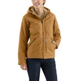 Carhartt Women's Full Swing® Quick Duck® Sherpa-Lined Flame-Resistant Jacket