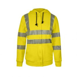 National Safety Apparel Women's Vizable Flame-Resistant Hi-Vis Zip-Up Sweatshirt