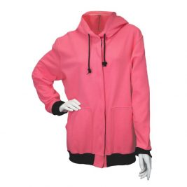 National Safety Apparel Women's Pink Flame-Resistant Zip-Up Hoodie