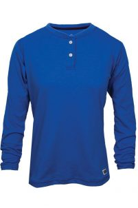 National Safety Apparel Women's Classic Cotton Flame-Resistant Henley Shirt