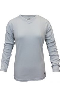 National Safety Apparel Women's Classic Cotton Flame-Resistant Long Sleeve V-Neck Shirt