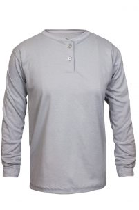 National Safety Apparel Women's Flame-Resistant 100% Cotton Henley Shirt