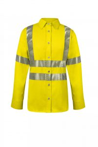National Safety Apparel Women's Vizable Flame-Resistant Work Shirt