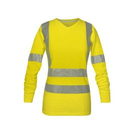 National Safety Apparel Women's Vizable Flame-Resistant Hi-Vis V-Neck Long Sleeve Shirt