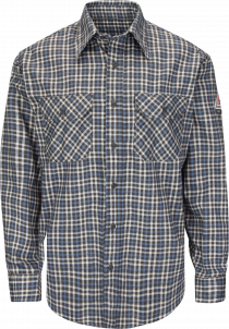 Bulwark Lightweight FR Plaid Uniform Shirt