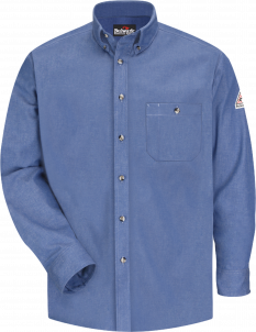 Bulwark Midweight Flame-Resistant Denim Dress Shirt