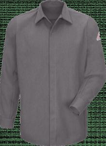 Bulwark Midweight FR Pocketless Concealed-Gripper Work Shirt