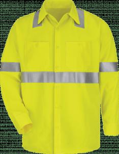 Bulwark Midweight FR Hi-Visibility Work Shirt