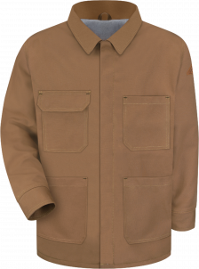 Bulwark Men's Heavyweight Flame-Resistant Brown Duck Lineman's Coat