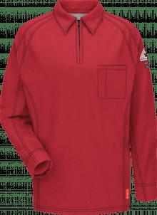 Bulwark iQ Series® Comfort Knit Men's Flame-Resistant Long Sleeve Polo