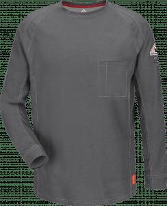 Bulwark iQ Series® Comfort Knit Men's Flame-Resistant Long Sleeve Shirt