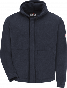 Bulwark Men's Flame-Resistant Fleece Zip-Up Hooded Sweatshirt