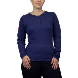 National Safety Apparel Women's Hautework® Just the Basics Flame-Resistant Henley