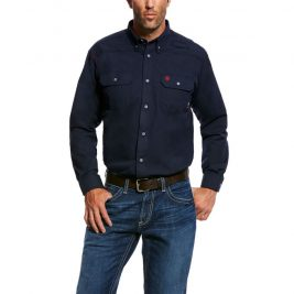Ariat Flame-Resistant Featherlight Work Shirt – Navy