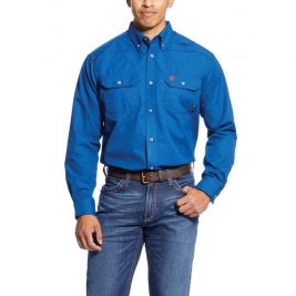 Ariat Flame-Resistant Featherlight Work Shirt – Royal Blue
