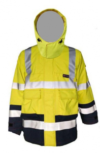 Neilsen PRO ARC Flame-Resistant Rated Rainwear Hi-Visibility Coat