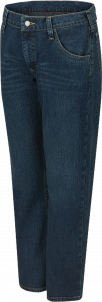 Bulwark Men's Straight-Fit Flame-Resistant Jeans with Stretch