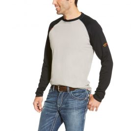 Ariat Flame-Resistant Baseball Long-Sleeve T-Shirt