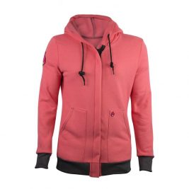 HauteWork® Women's FR Pink Zip Front Hoodie