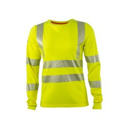 HauteWork® Hi-Vis FR Women's Long Sleeve T-Shirt